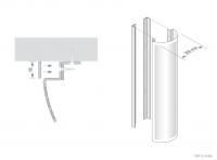 Semi Circular Column Casing Detail - GA CC30