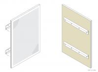 Aluminium Counter / Desk Panel (Split Batten) - GA CD3