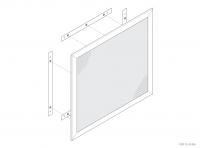 Aluminium Counter / Desk Panels (Secretly Fixed) - GA CD4