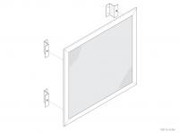 Aluminium Counter / Desk Panel (Secretly Fixed) - GA CD5