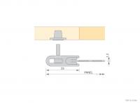 Aluminium Framed Panels - Secret Fixings - GA IFFP 251