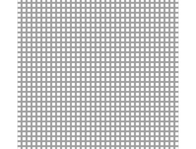 Aluminium Perforated Squares - GA PS1660 Mill (untreated) 44% open area