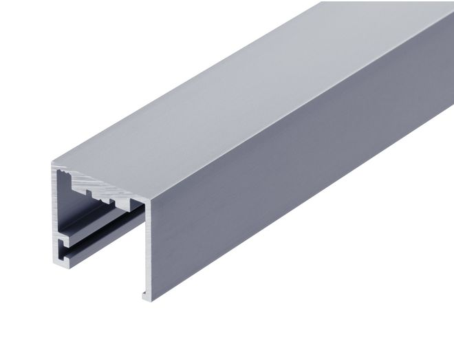 One Side Fix Glazing Channel - GA SA7031 (10mm) Natural Anodised