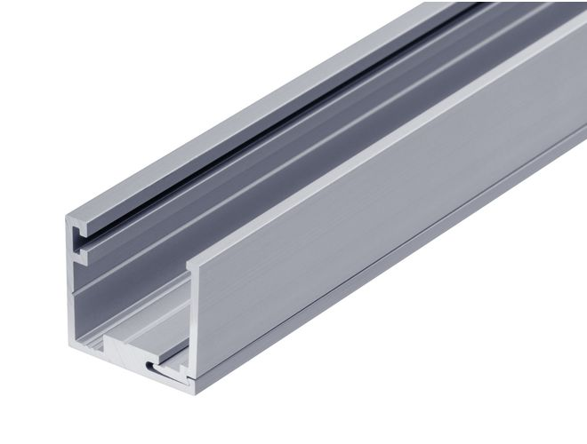 2 Part Glazing Channel - One Side Fix - GA SA7035 (10mm) Natural Anodised