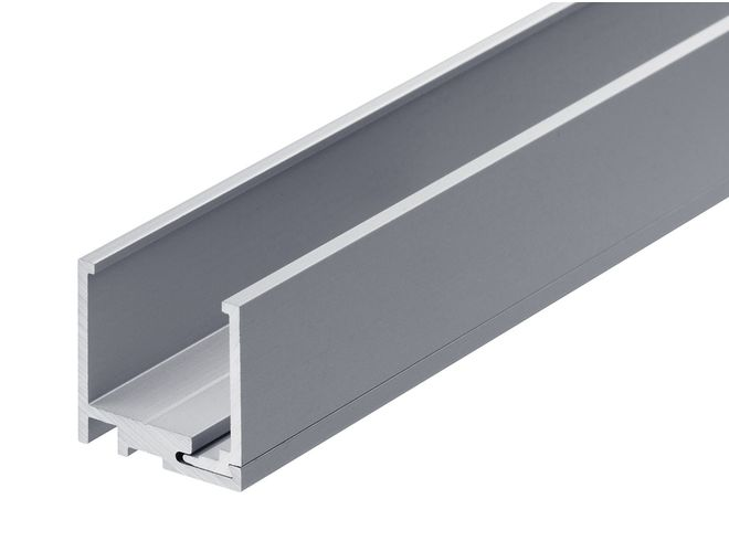 2 Part Glazing Channel - GA SA1035 Natural Anodised