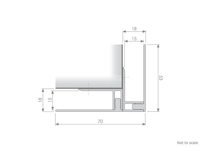 Corrugated Panelling - GA EX78 External Corner Profile