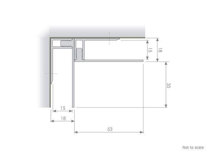 Corrugated Panelling - GA IN78 Internal Corner Profile
